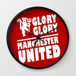 Slogan: Man United Wall Clock