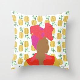 Pineapple Bawse Babe Throw Pillow