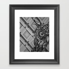 Gray Owl Framed Art Print