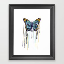 Melting Monarch (collab with Matheus Lopes) Framed Art Print