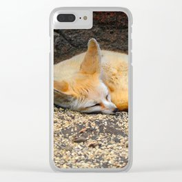 Time to Sleep Little Fennec Fox Clear iPhone Case