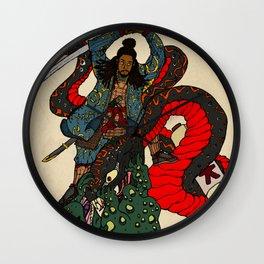 Jiraiya Samurai Wall Clock