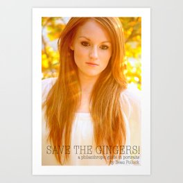 Save the Gingers #5 Art Print