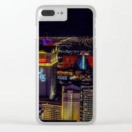 Las Vegas skyline photos Clear iPhone Case