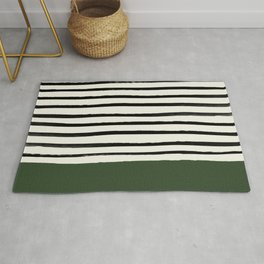 Forest Green x Stripes Rug