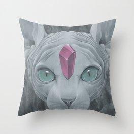 """Sphynx"" Throw Pillow"
