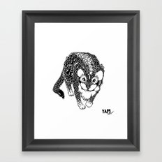 Black Cheetah Framed Art Print