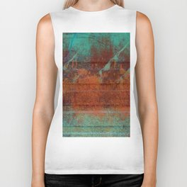 Turquoise and Copper Brick Biker Tank