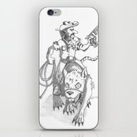 western iPhone & iPod Skins featuring western rat by kasowy