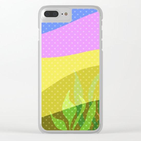 Multi-colored pattern . Tropics . Clear iPhone Case