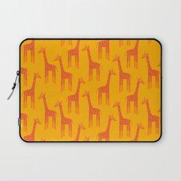 Giraffes-Orange Laptop Sleeve