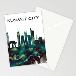 Kuwait City Skyline Stationery Cards