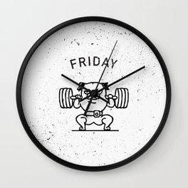 Leg Friday Wall Clock