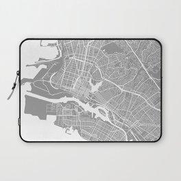 Oakland CA map grey Laptop Sleeve