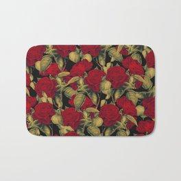 Vintage Red Roses II Bath Mat