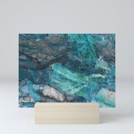 Cerulean Blue Marble Mini Art Print