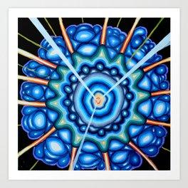 Blue Explosion - Andrew Kaminski Art - Acrylic Painting Art Print