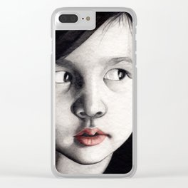 oriental girl Clear iPhone Case