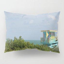 Caribbean Colored Lifeguard Station At Miami Beach Pillow Sham