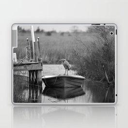 Blue Heron on Fishing Boat II Laptop & iPad Skin