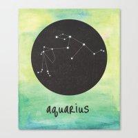 aquarius Canvas Prints featuring Aquarius by snaticky