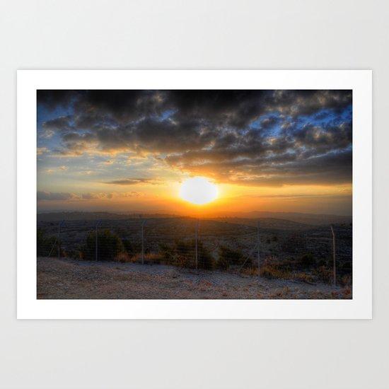 Sunset Over Hezbollah Art Print