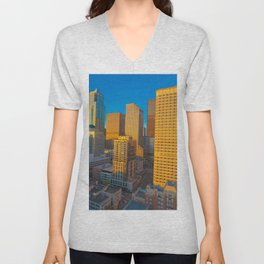 Downtown Seattle Skyline at Sunset 2 Unisex V-Neck