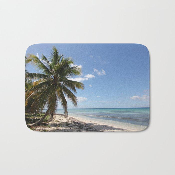 Isla Saona Caribbean Paradise Beach Bath Mat by Christine aka stine1