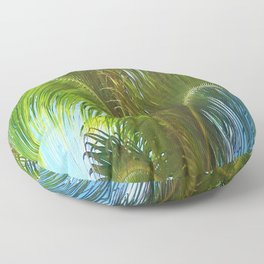 437 - Abstract Palm Tree Design Floor Pillow