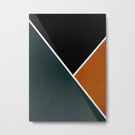 Noir Series - Forest & Orange Metal Print