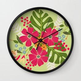 Bits of Summer Wall Clock