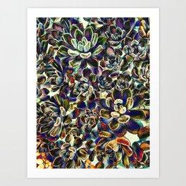 Floral tribute [pebble mix] Art Print