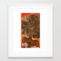 bookworm Framed Art Prints featuring bookworm by Sugah Acrylics & Designs