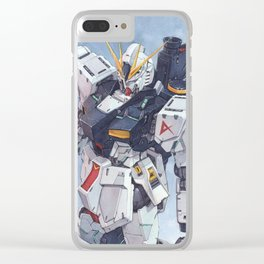 Nu Gundam watercolor Clear iPhone Case