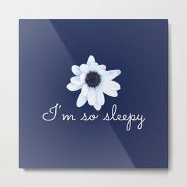 Sleepy African Daisy Flower Metal Print