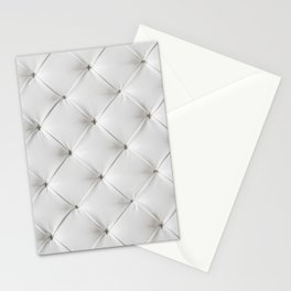White Tufted Stationery Cards
