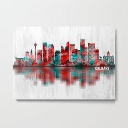 Calgary Canada Skyline Metal Print