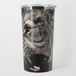 Angry Male Lion Travel Mug