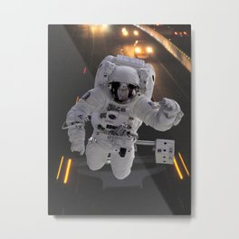 Highway Astronaut, Explore the World Metal Print