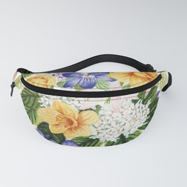 Daffodil and Violets Fanny Pack