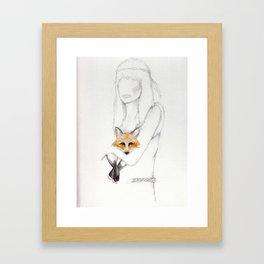 the fox Framed Art Print