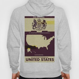 United States Vintage map cover Hoody