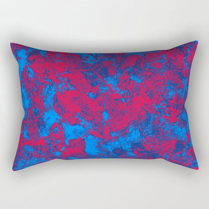 Red + Blue Rectangular Pillow