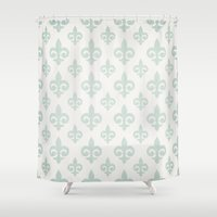 fleur de lis Shower Curtains featuring Fleur-de-lis by Juste Pixx Designs