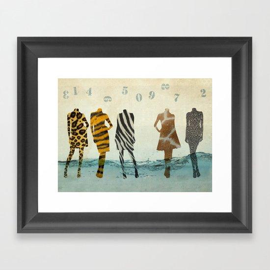 fashion line up Framed Art Print