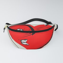 Butterflies on a red heart, a symbol of romance Fanny Pack