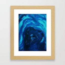 Blue Affection Framed Art Print
