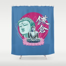 Kamakura Buddha Shower Curtain