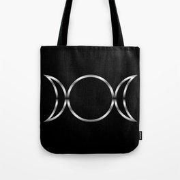 Triple Goddess Symbol Tote Bag