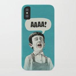 AAAA! (Blue) iPhone Case